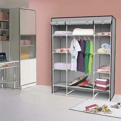"Felji 53"" Portable Closet Storage Organizer Wardrobe Cloth"