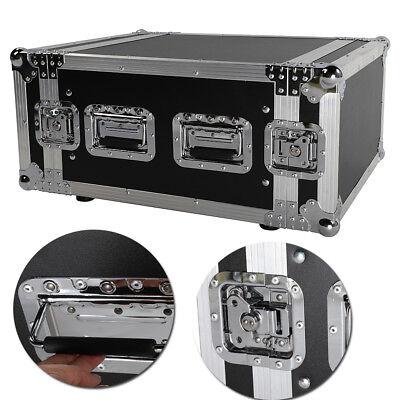 19 Inch Space Rack Case Single Layer Double Door 6U DJ Equipment Cabinet Black