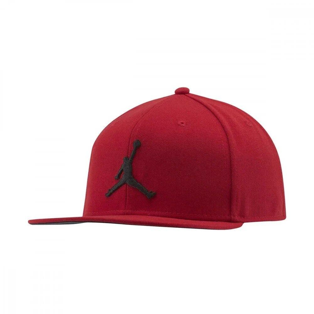 CAPPELLO NIKE JORDAN AR2118-687 ROSSO NERO RED SNAPBACK ORIGINALE REGOLABILE