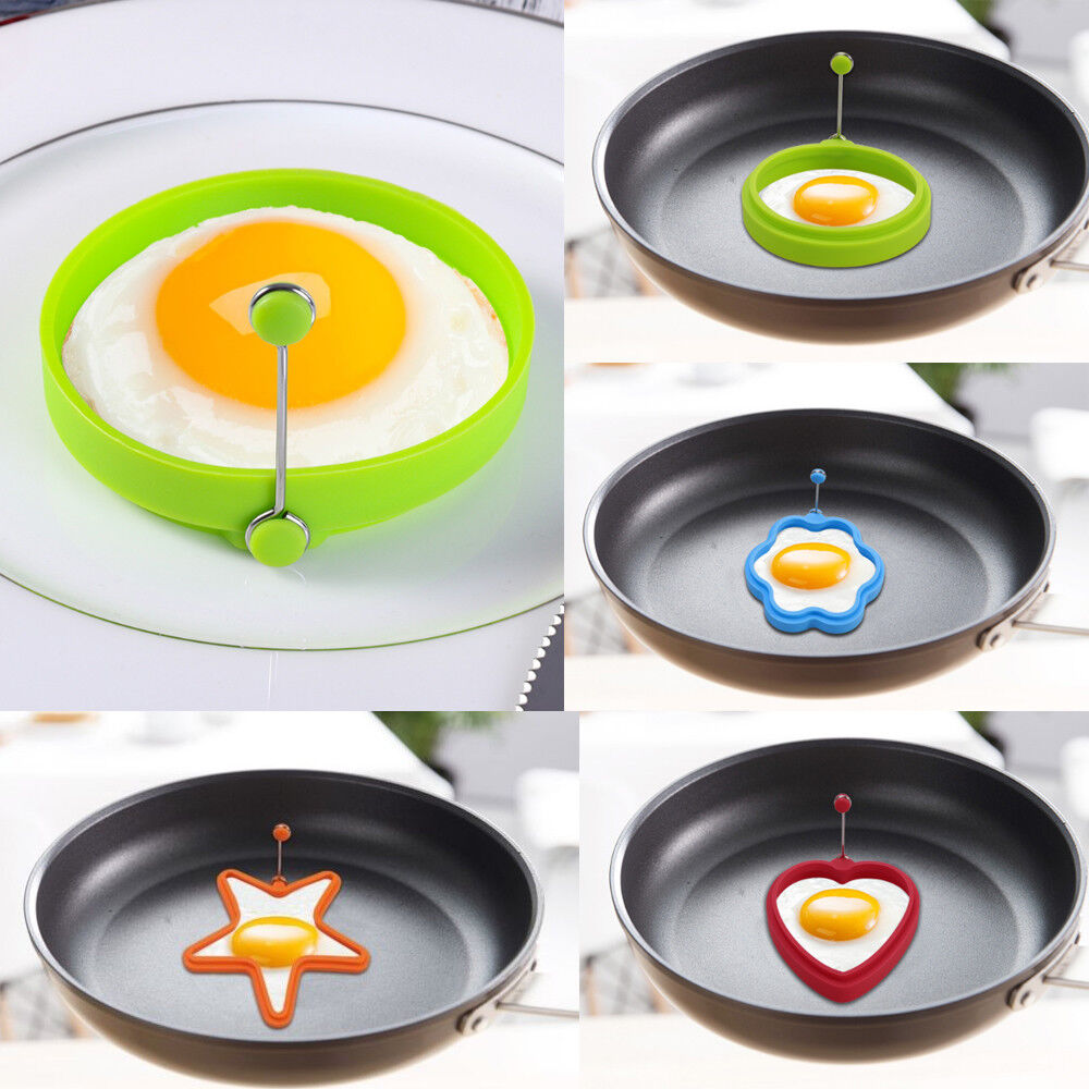 Metall Spiegeleiform Herz Rund Eierring Spiegelei Antihaft Eierform Pfannenring