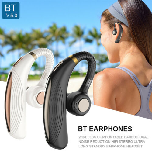 Driving Trucker Headset Wireless Bluetooth 5.0 Noise Cancelling Earpiece Earbuds Cell Phone Accessories