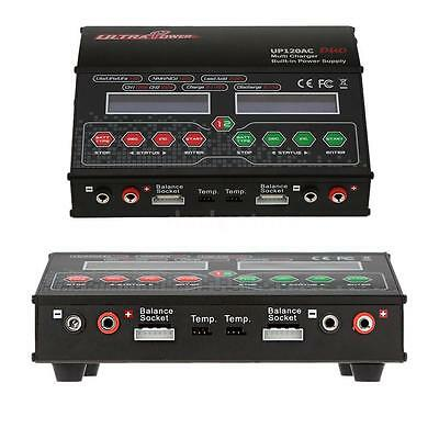 Ultra Power UP120AC DUO 120W/120W LiPo/LiFe/NiMH Akku-Ladegerät Charger DE X7G8