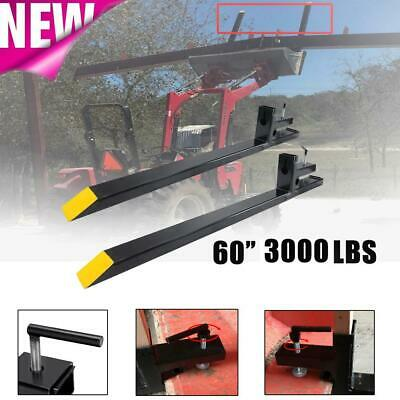 3000lb Capacity 60 Skid Steer Clamp On Pallet Fork Tractor Loader Bucket