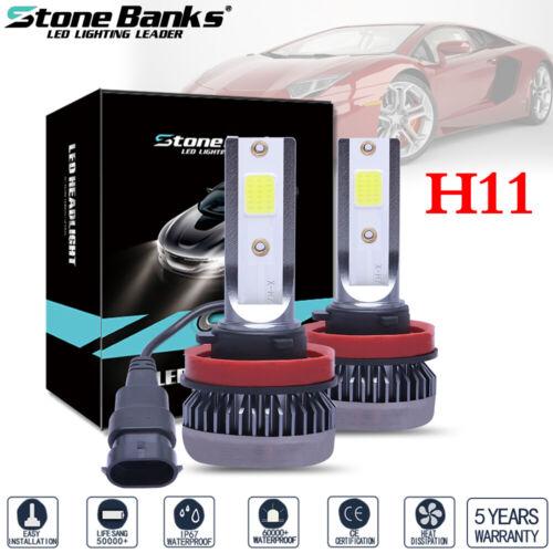 2X H11 Mini Ultra-light 120W 26000LM 6000K COB LED Headlight