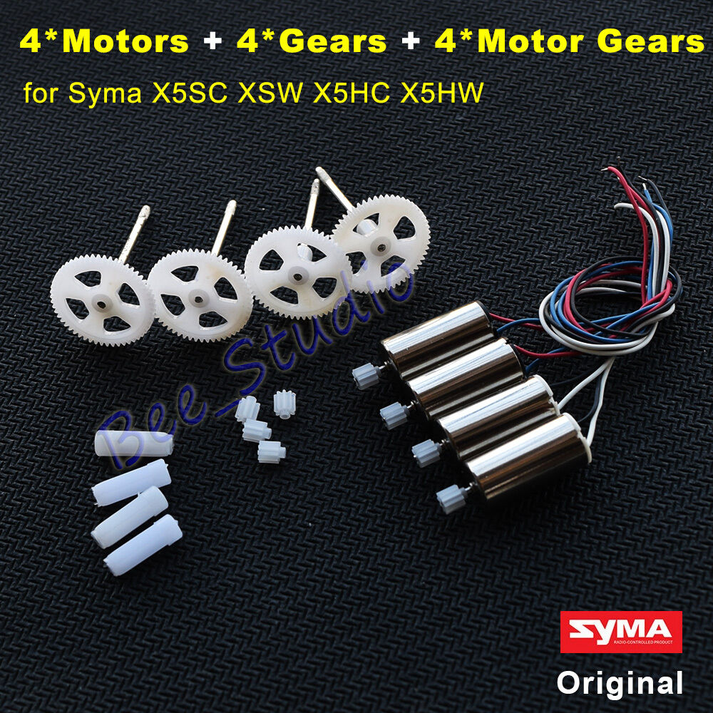 4PCS Motor engine + Gear Wheel sets for Syma X5SC X5SW X5HC X5HW RC Done Parts