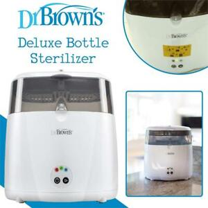 NEW Dr Browns Deluxe Bottle Sterilizer, Gray Condtion: New, Pack of 1, the top part of the unit has crack