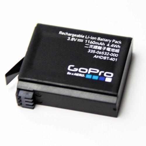 Genuine Original Gopro AHDBT-401 battery For Hero4 HD Black Silver 1160 mAh