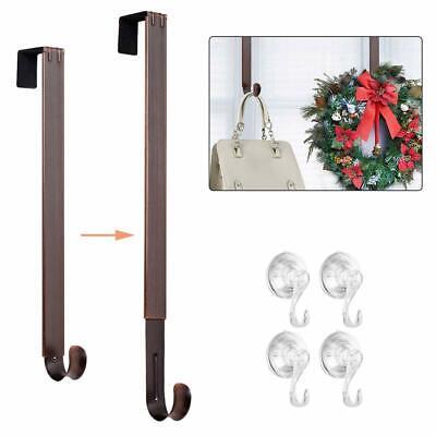 Wreath Hangers (  Adjustable Wreath Hanger, Door Hook Metal Wreath Hanger for Front )