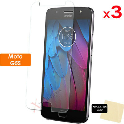 3 Pack of CLEAR LCD Screen Protector Cover Guards for Motorola Moto G5S