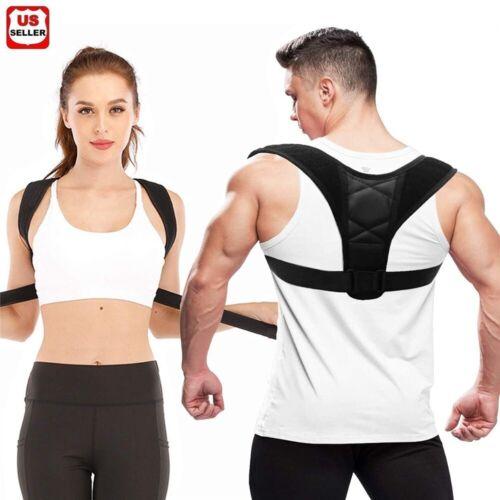 Posture Corrector men Support Back Shoulder Pro Brace Belt Adjustable women Kids Health & Beauty