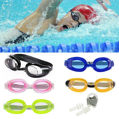 Summer Swim Swimming Goggles Set with Ear Plugs & Nose Clip For Children Adult - Swim Goggles For Kids