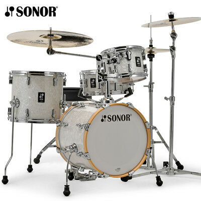 NEW Sonor AQ2 Series 4 Piece SAFARI Drum Set Shell Pack White Marine Pearl