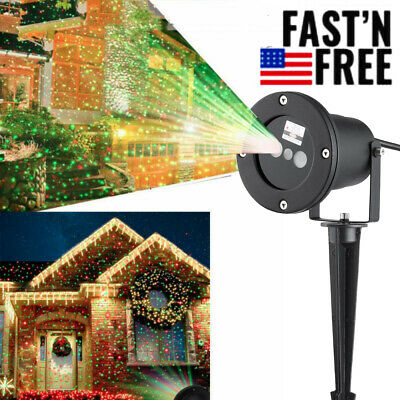 Christmas LED Moving Laser Projector Light Party Landscape Snowflake Xmas Lamp