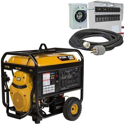Cat Rp12000 E - 12000 Watt Electric Start Portable Generator W 50-amp Power...