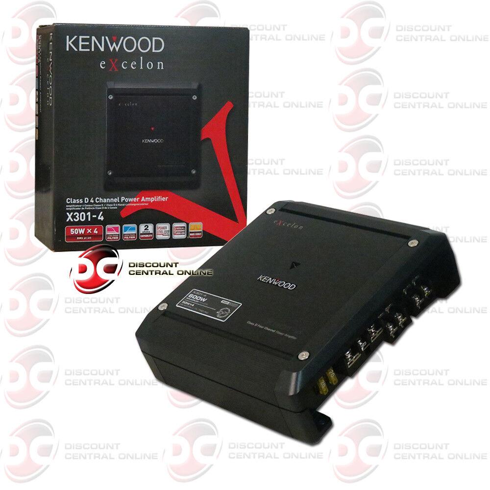 Kenwood eXcelon Class D 4-Channel Power Amplifier