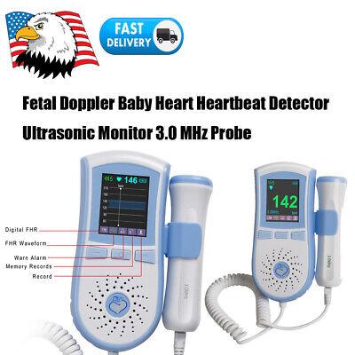 Lcd Fetal Doppler Fetus Heart Rate Detector Ultrasonic Monitor 3mhz Lcd Display