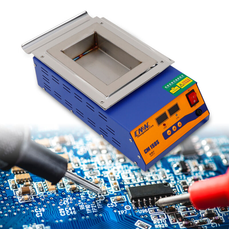 110V Stainless Steel Solder Soldering Pot Digital Preheat Desoldering Bath 400°C