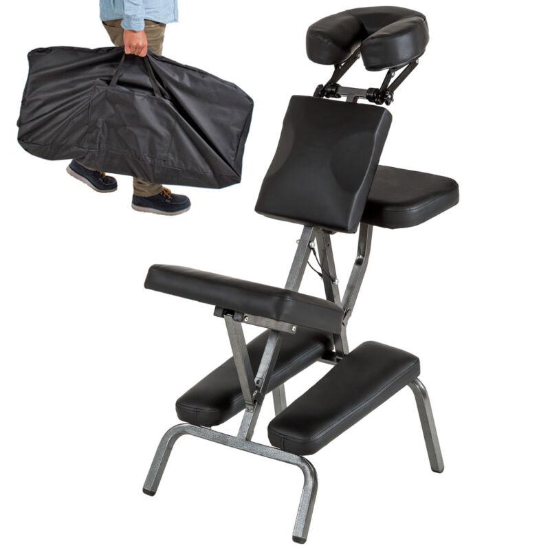 Massagestuhl Tattoostuhl Behandlungsstuhl Massagebank +Tasche schwarz