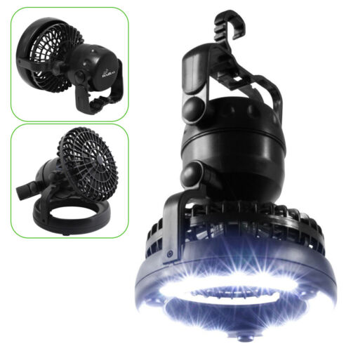 Foldable LED Camping Lantern with Ceiling Fan for Hiking Fishing and Emergencies
