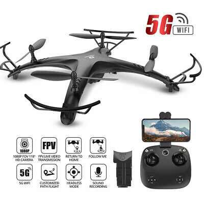 DEERC DE24 FPV Drone with 1080p HD Wifi HD Camera RC Quadcopter GPS Follow Me US
