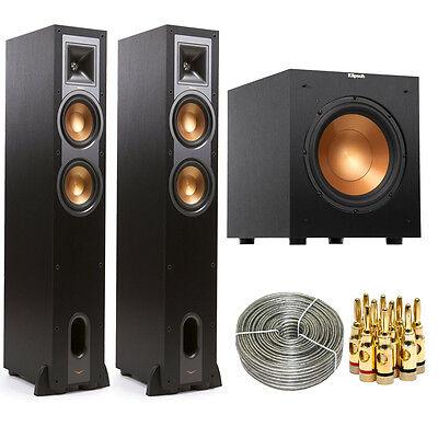 Klipsch R-26F Floorstanding Speaker Pair w/ R-10SW 10 300w Subwoofer