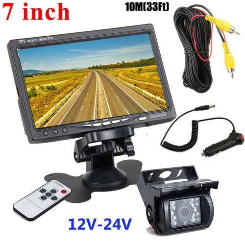 "RV Truck Bus Van Car IR Back Up Camera Night Vision System 7"" Rear View Monitor"