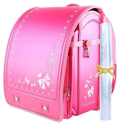 Kawaii 4 Girls (Randoseru Kawaii Japanese School Bag Girls Berry Pink A4 flat file Japan)