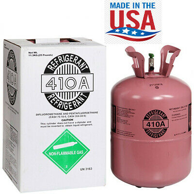 R410a R-410a R 410a Refrigerant 25lb Tank. New Factory Sealed Made In Usa
