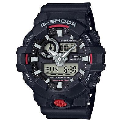 Casio G-SHOCK GA700-1A Black Super Illuminator Analog Digital 200m Men's Watch
