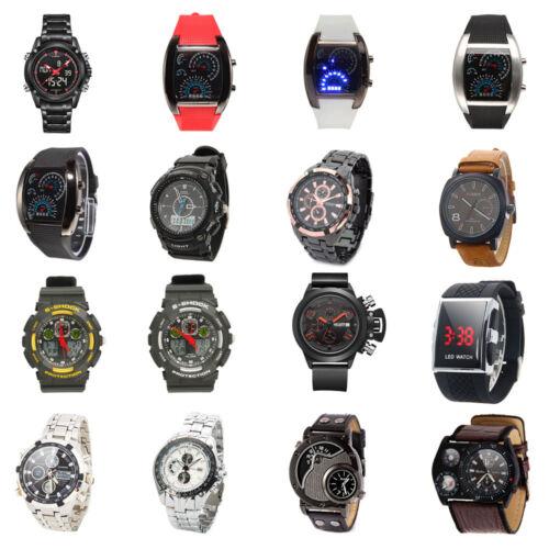 $6.35 - Fashion Men's LED Digital Quartz Wrist Watch Luxury Watch Leather Sport Watches