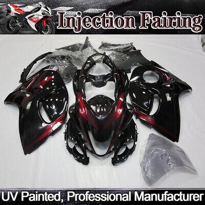 Black Red Fairing Kit For SUZUKI Hayabusa GSX1300R 2008-2018 ABS Injection Body