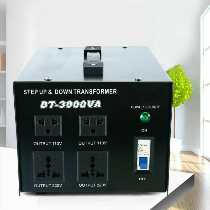 3000 Watt Step Up and Down Voltage  Converter Power Transformer 110 to/from 220V