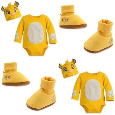 Disney Store Simba Baby Bodysuit Costume Dress Up Shoes Booties Lion King Guard (Baby Ups Costume)