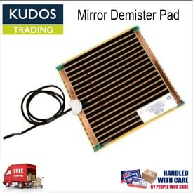 Mirror Demister Heat Pad Bathroom mist free mirrors 252 x 274mm NEW