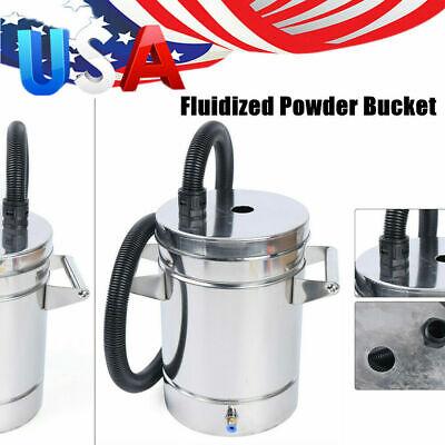 Small Stainless Steel Powder Hopper Electrostatic Fluidized Powder Coating Tool