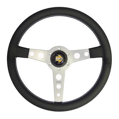 - MOMO Prototipo Silver Tuner Leather 350mm Steering Wheel Spoke Classic