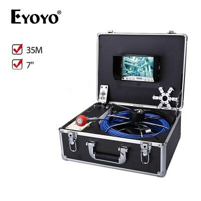 Eyoyo 35m Pipe Drain Sewer Inspection Camera System 7 6-8 Hours Working Time