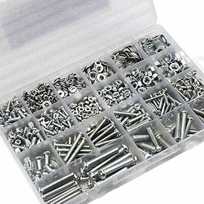 24 Types M3 M4 M5 Stainless Steel Bolts Screws Nuts Flat Gasket Washers Kit Home