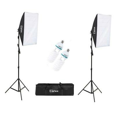 Studio Photography 2 Softbox Continuous Photo Lighting Kit w/ Carrying Bag