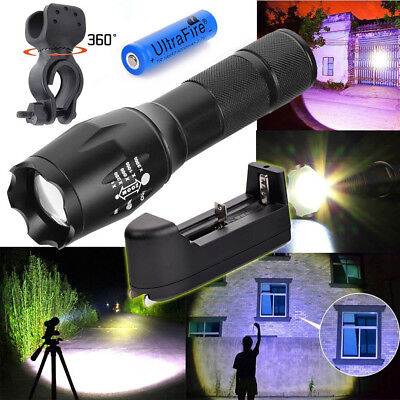 Shadowhawk 50000Lumens  T6 G700 x800 LED Flashlight Torch +18650 Battery+Charger