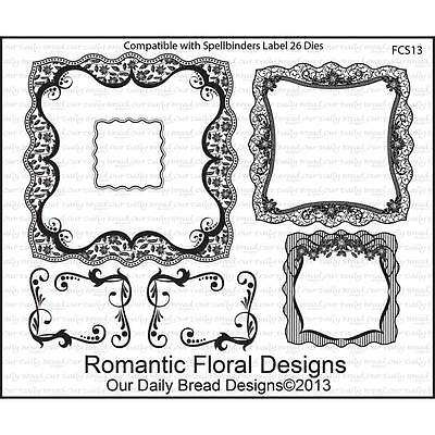 Our Daily Bread Clear Stamps Romantic Floral Designs Frames   New
