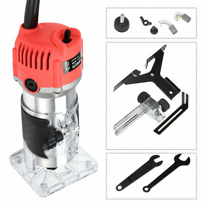 800W Corded Electric Hand Trimmer Palm Router Wood Laminate Joiner Tool#30000RPM