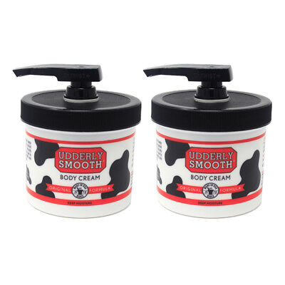 2 Pack Udderly Smooth Body Cream Original Formula Jar Pump 10 Ounce Each