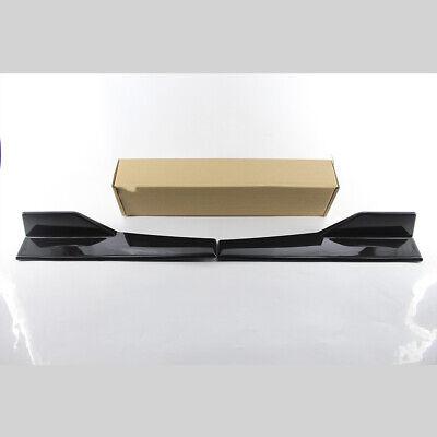 Car ABS Bumper Spoiler Rear Lip Side Skirt Extension Splitters Winglet Wings