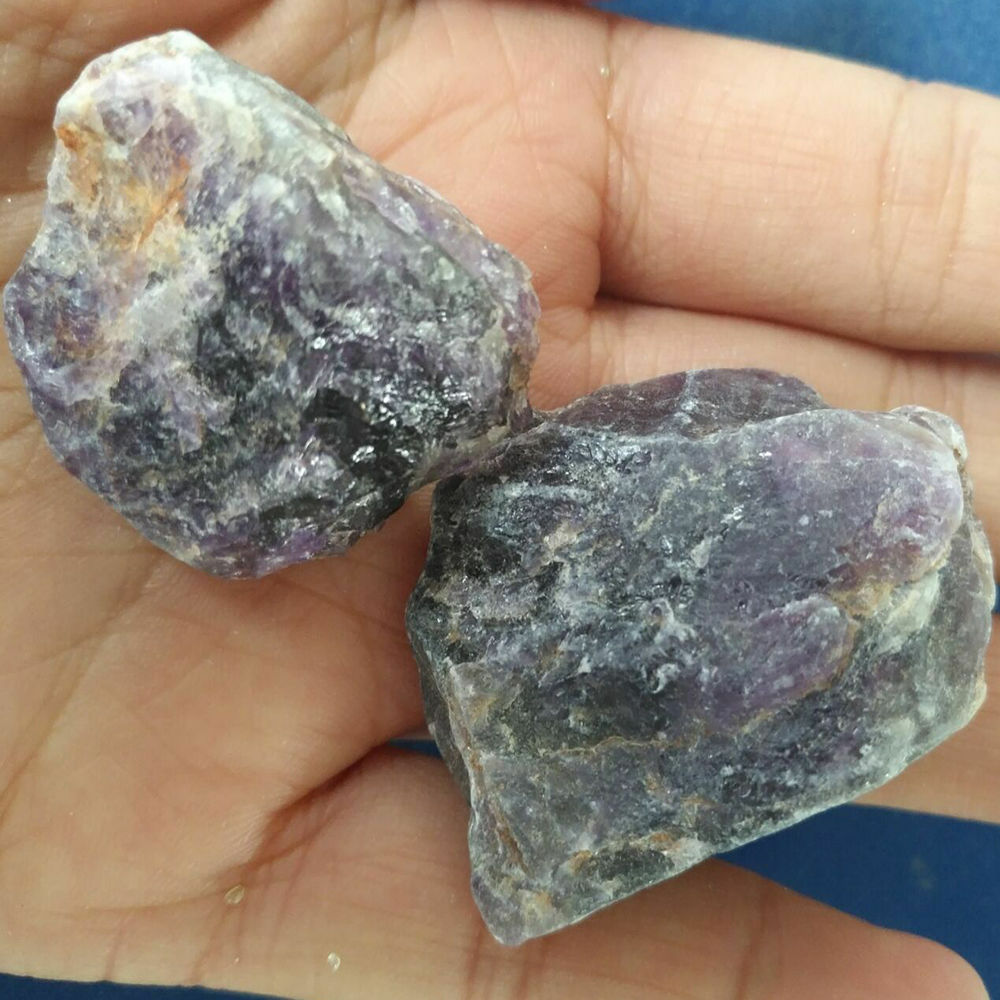 50g natural purple amethyst point quartz crystal rock