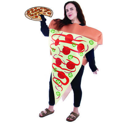 Supreme Pizza Slice Halloween Costume | Adult Unisex Funny Food Outfit - Pizza Costumes
