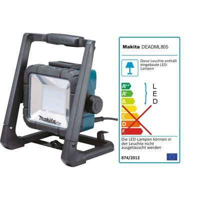 MAKITA LED-Baustrahler DEADML805 14,4-18 Volt Akku & 230V