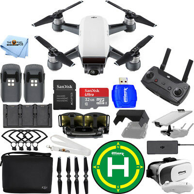 DJI Spark Fly More Combo (Alpine White)!! EXTREME ACCESSORY BUNDLE BRAND NEW!!