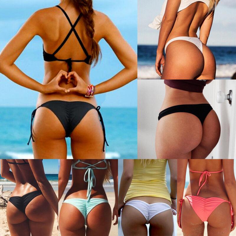 Damen Bikini G-String Thong Tanga Slip Brasil Strand Bikinihose Stringtanga