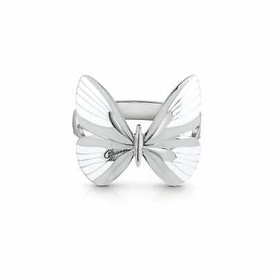 GUESS Tropical Dream Damen Armreif Armspange Schmetterling Edelstahl Silber Weiß
